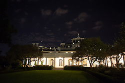 October 11, 2016 - Washington, DC, United States - A nighttime view of the Rose Garden at the White House October 11, 2106 in Washington, DC. (Credit Image: © Cheriss May/NurPhoto via ZUMA Press)