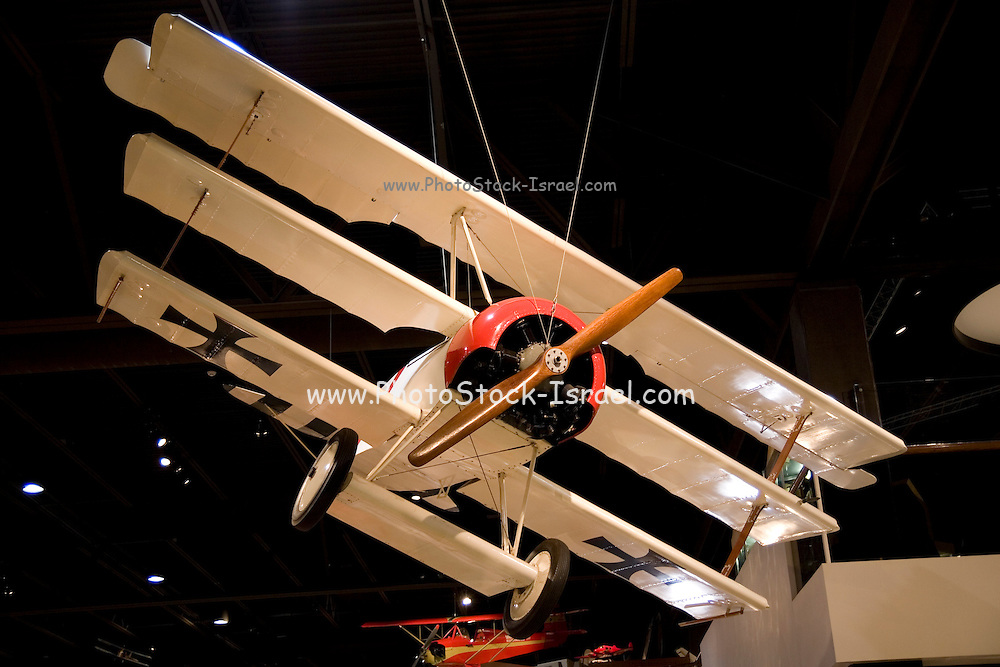 Wisconsin, USA, Oshkosh, Air Venture Experimental Aviation Association (EAA) Museum, Fokker Dr. 1 triplane (German WWI aircraft)., November 2006