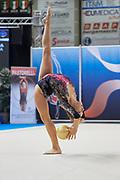 Laura Specchiulli from Pontevecchio team during the Italian Rhythmic Gymnastics Championship in Padova, 25 November 2017.