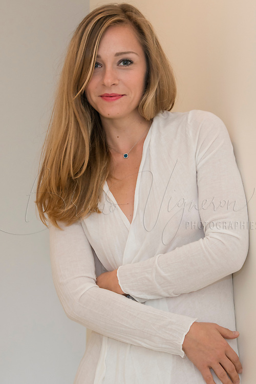 Delphine Depardieu, at home. Oct 2013