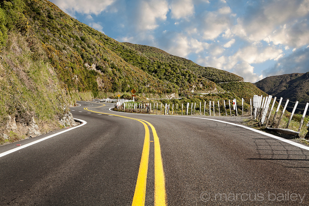 Road winding up Rimutaka Hill, Upper Hutt, New Zealand