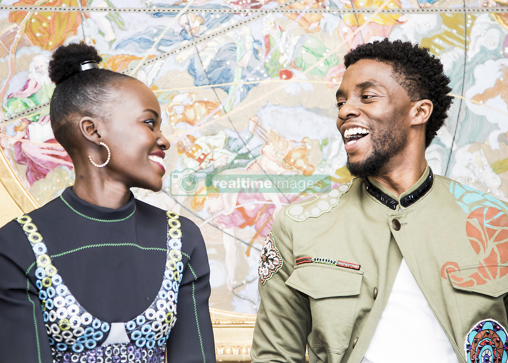 January 30, 2018 - Hollywood, CA, USA - Lupita Nyong'O  and Chadwick Boseman star in the movie Black Panther (Disney)Marvel (Credit Image: © Armando Gallo via ZUMA Studio)