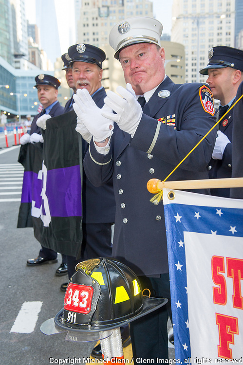24 Sep 2017 Manhattan, New York United States of America // FDNY attends the Stephen Siller Tunnel to Towers run at the World Trade Center site  Michael Glenn  /