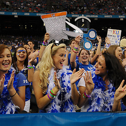 Apr 2, 2012; New Orleans, LA, USA; Kentucky Wildcats fans cheer and dance in the stands before the finals of the 2012 NCAA men's basketball Final Four against the Kansas Jayhawks at the Mercedes-Benz Superdome. Mandatory Credit: Derick E. Hingle-US PRESSWIRE