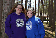 Adrienne Cechura and her daughter Autumn Herndon, 13, of Marion during the Retreat & Refresh Stroke Camp at Camp Courageous in Monticello on Saturday, April 20, 2013.