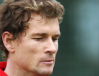 Photo: Javier Garcia/Back Page Images Mobile +447887 794393<br />Arsenal FC UEFA Champions League Training, London Colney, 06/12/04<br />Jens Lehmann leaves training before his team mates