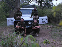 Dec. 7, 2014 - BALULE RESERVE, SOUTH AFRICA: Black Mamba Commander and former Royal Navy serviceman Russell Baker (bottom right). LED BY BRITISH former military personnel these pictures show how courageous women anti-poachers train with guns in their battle to preserve Africa's endangered animals. Operating in the Kruger National Park's Balule Nature Reserve the 24-member strong all-female Black Mamba Anti-Poaching Unit patrols 50,000 hectares of bush to protect elephants and rhinos that are hunted as part of the estimated £12billion a year illegal world animal trade. These ladies, who as pictures show pose with weapons but also know how to party, are on the front line of a deadly war for the resources of their continent. Over the past year 1,000 wildlife rangers have been killed in Africa while protecting endangered wildlife. Black Mamba Commander and former Royal Navy serviceman Russell Baker (28) from Grimsby, UK explained exclusively how and why this South African special unit was established. (Credit Image: © Media Drum World/MediaDrumWorld/ZUMAPRESS.com)