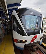 Malaysia, Kuala Lumpur. RapidKL train.