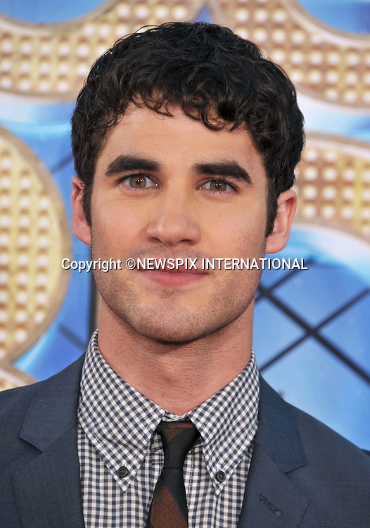 "DARREN CRISS.attends the World Premiere of ""Glee The 3D Concert Movie"" at the Regency Village Theater, Westwood, Los Angeles_06/08/2011.Mandatory Photo Credit: ©Crosby/Newspix International. .**ALL FEES PAYABLE TO: ""NEWSPIX INTERNATIONAL""**..PHOTO CREDIT MANDATORY!!: NEWSPIX INTERNATIONAL(Failure to credit will incur a surcharge of 100% of reproduction fees).IMMEDIATE CONFIRMATION OF USAGE REQUIRED:.Newspix International, 31 Chinnery Hill, Bishop's Stortford, ENGLAND CM23 3PS.Tel:+441279 324672  ; Fax: +441279656877.Mobile:  0777568 1153.e-mail: info@newspixinternational.co.uk"