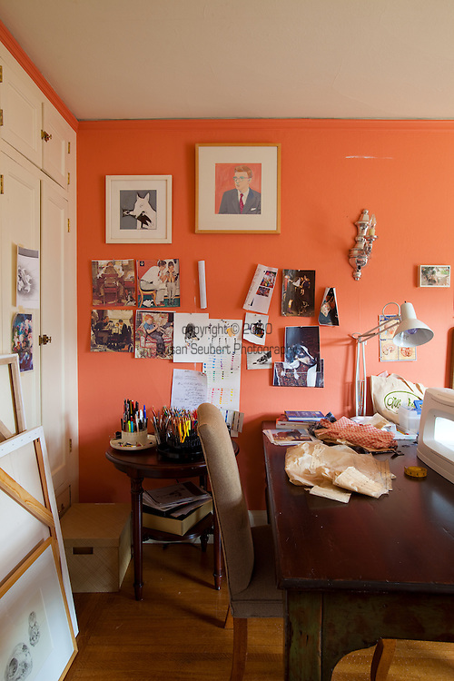 The Portland, Oregon home of Wendy Burden, author of  the memoir, Dead End Gene Pool.  Ms. Burden's sewing room.