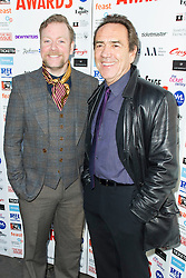 © Licensed to London News Pictures. 06/12/2013, UK. Rufus Hound & Robert Lindsay, WhatsOnStage Awards Nominations - launch party, Cafe De Paris, London UK, 06 December 2013. Photo credit : Raimondas Kazenas/Piqtured/LNP