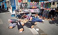 De markt van Dieppe, Normandië, Frankrijk - Dieppe market, Normandy, France
