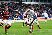Bolton Wanderers Adam Le Fondre (45) fires in a shot from point blank range during the EFL Sky Bet League 1 match between Bolton Wanderers and Northampton Town at the Macron Stadium, Bolton, England on 18 March 2017. Photo by Craig Galloway.