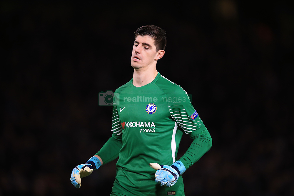 5 December 2017 -  UEFA Champions League (Group C) - Chelsea v Atletico Madrid - Chelsea goalkeeper Thibaut Courtois  - Photo: Marc Atkins/Offside