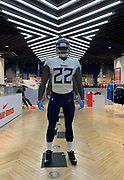 Oct 19, 2018; London, United Kingdom; General overall view of mannequin and helmet of Tennessee Titans running back Derrick Henry (22) at Niketown London.