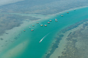 The Island from Above. Fishing boats at Mannar.
