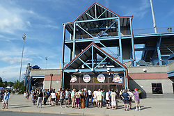 The Gate before the Show. Furthur Band at McCoy Stadium, Pawtucket RI on 5 July 2012
