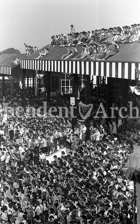 Slane concert 1983 held in the Phoenix Park that year. Fans enjoying themselves.<br />
