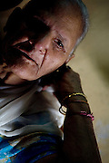 Swaran Kaur, 80, is portrayed in Tilak Vihar, New Delhi, India. She has lost her husband and other members of her family during the anti-Sikh riots erupted in New Delhi in 1984 in the light of Indira Gandhi's assassination by her Sikh bodyguards.