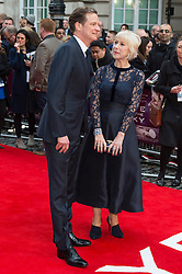 © Licensed to London News Pictures. 11/04/2016. Colin Firth and Helen Mirren arrive for the European film premiere of Eye In The Sky. London, UK. Photo credit: LNP
