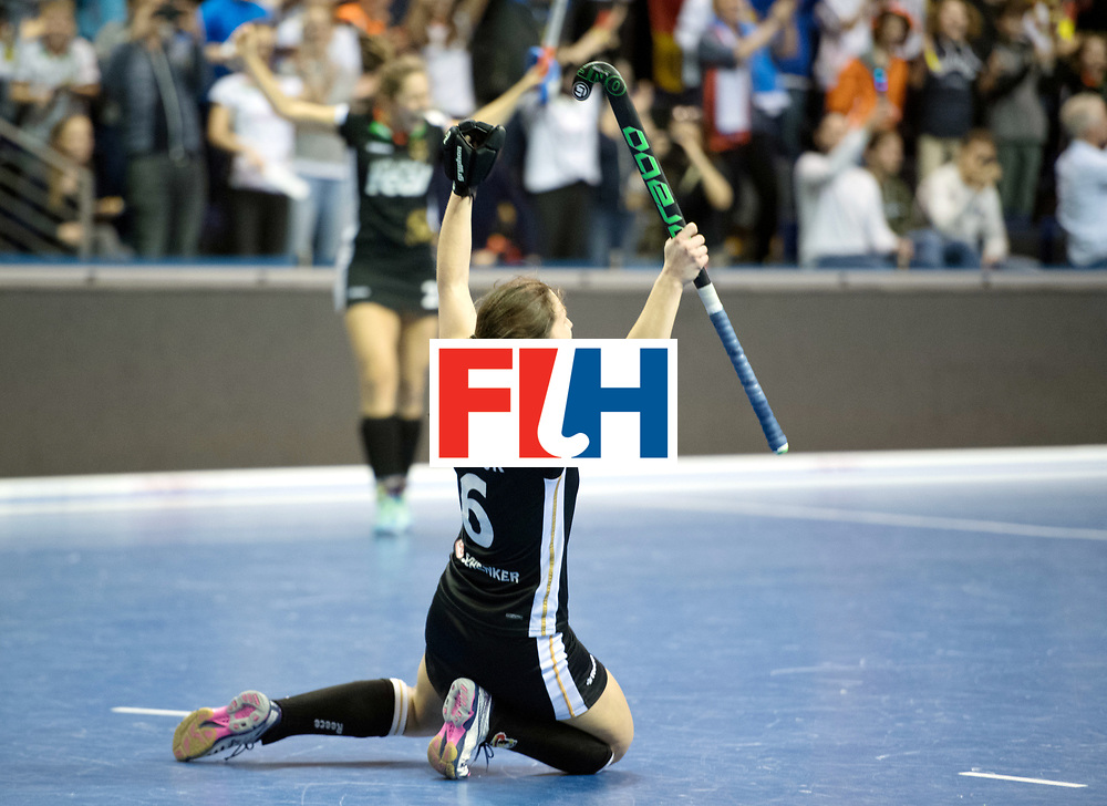 BERLIN - Indoor Hockey World Cup<br /> Final: Netherlands - Germany<br /> foto: Germany wins the Final with 2-1 <br /> Luisa Steindor <br /> WORLDSPORTPICS COPYRIGHT FRANK UIJLENBROEK