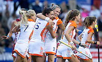DEN BOSCH - thursday during semi final match between the women of Ypoung The Netherlands  and Young England.  EC-21. PHOTO KOEN SUYK for EHF.
