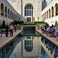 Memorial Courtyard at Australian War Memorial in Canberra, Australia<br />