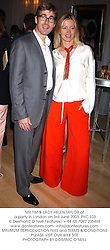 MR TIM & LADY HELEN TAYLOR at a party in London on 3rd June 2003.PKC 103