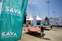 Sponsorship activation of Zavarovalnica SAVA at ATP Challenger Zavarovalnica Sava Slovenia Open 2018, on August 4, 2018 in Sports centre, Portoroz/Portorose, Slovenia. Photo by Urban Urbanc / Sportida
