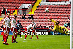 George Long of Sheffield United watches a shot by Massadio Haidara of Newcastle United go wide of the post - Mandatory by-line: Matt McNulty/JMP - 26/07/2015 - SPORT - FOOTBALL - Sheffield,England - Bramall Lane - Sheffield United v Newcastle United - Pre-Season Friendly