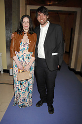ALEX JAMES and his wife CLAIRE at the 10th Anniversary Party of the Lavender Trust, Breast Cancer charity held at Claridge's, Brook Street, London on 1st May 2008.<br />