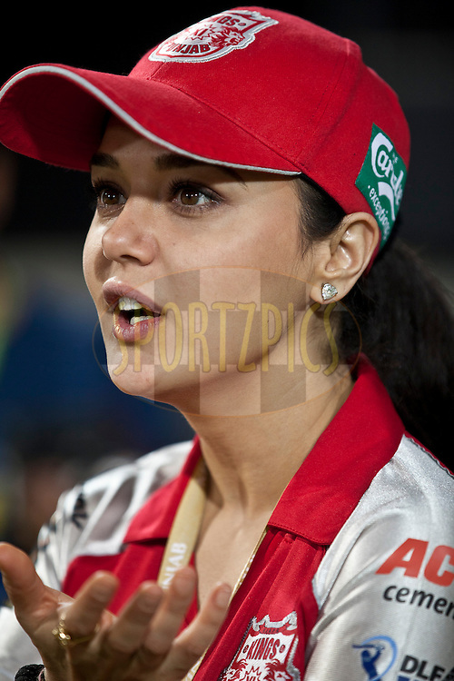 Kxip coowner prety zinta during match 57 of the Indian Premier League ( IPL ) Season 4 between the Kochi Tuskers Kerala and the Kings XI Punjab held at the Holkar Stadium in Indore, Madhya Pradesh, India on the 13th May  2011..Photo by Saikat Das/BCCI/SPORTZPICS