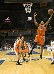 Virginia guard Sean Singletary (44) grabs a rebound against GT.  The Virginia Cavaliers faced the Georgia Tech Yellow Jackets in the first round of the 2008 ACC Men's Basketball Tournament at the Charlotte Bobcats Arena in Charlotte, NC on March 13, 2008.