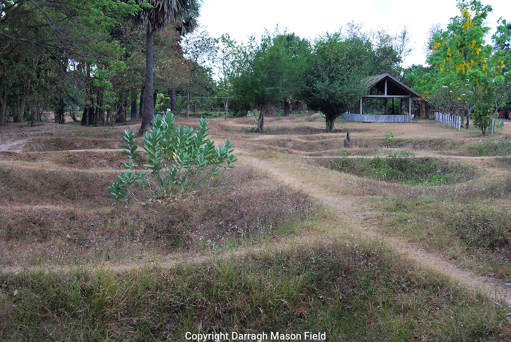 The mass graves of the killing fields