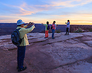 Chinese visitors to Dead Horse Point State Park, Utah.<br />