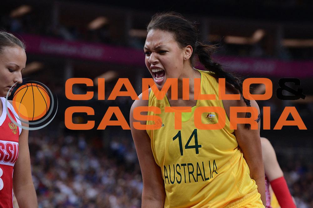 DESCRIZIONE : London Londra Olympic Games Olimpiadi 2012 Women Final bronze medal game Australia Russia<br /> GIOCATORE : Liz CAMBAGE<br /> CATEGORIA : <br /> SQUADRA : Australia<br /> EVENTO : Olympic Games Olimpiadi 2012<br /> GARA : Australia Russia<br /> DATA : 11/08/2012<br /> SPORT : Pallacanestro <br /> AUTORE : Agenzia Ciamillo-Castoria/M.Marchi<br /> Galleria : London Londra Olympic Games Olimpiadi 2012 <br /> Fotonotizia : London Londra Olympic Games Olimpiadi 2012 Women Final bronze medal game Australia Russia<br /> Predefinita :