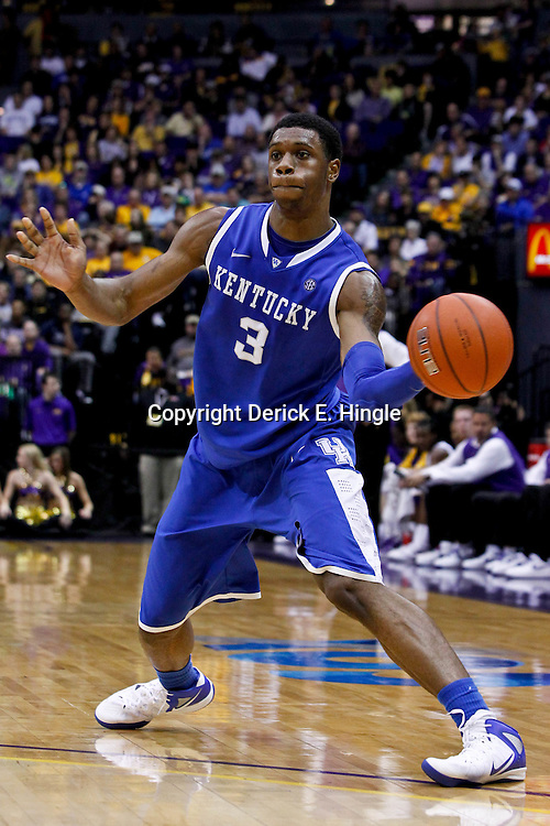 January 28, 2012; Baton Rouge, LA; Kentucky Wildcats forward Terrence Jones (3) against the LSU Tigers during a game at the Pete Maravich Assembly Center. Kentucky defeated LSU 74-50.  Mandatory Credit: Derick E. Hingle-US PRESSWIRE