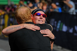 September 26, 2017 - Toronto, Ontario, Canada - Prince Harry congratulates Julie Marcotte on winning Gold at the Cycling Time Trial during the Invictus Games 2017 at High Park on September 26, 2017 in Toronto, Canada. (Credit Image: © Anatoliy Cherkasov/NurPhoto via ZUMA Press)
