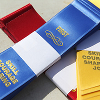 Ribbons wait to handed to winners and all those took part in Wednesday's Northern Mississippi Special Olympic's at Tupelo High School.