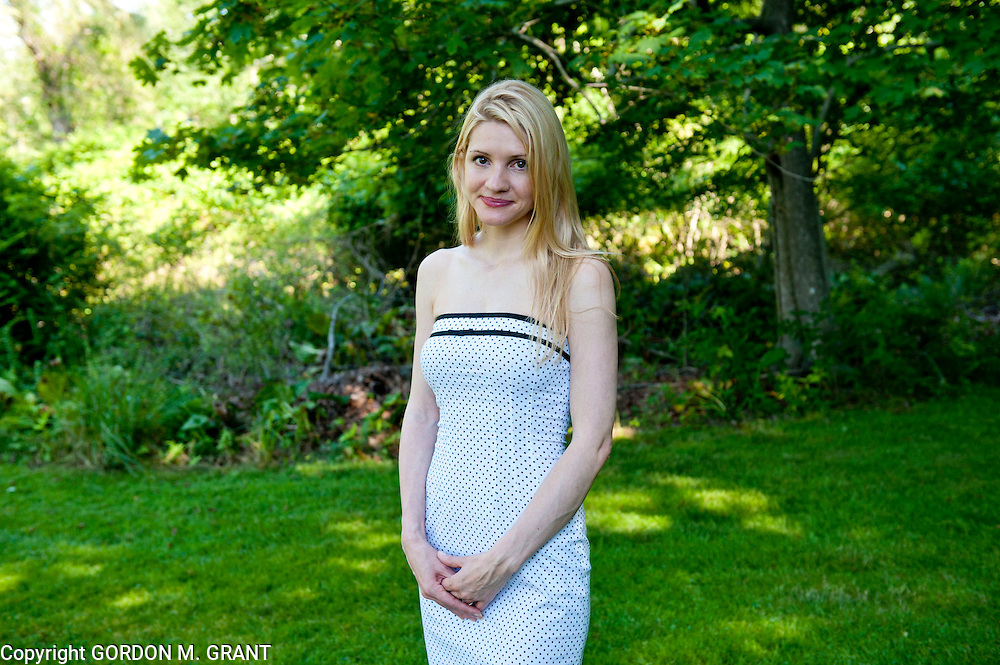 Heidi Snow, who lost her fiancee in the TWA 800 crash, poses in East Hampton. (July 15, 2011)