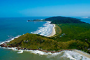 Aerial photo of Grajagan Resort and the island of Ilha do Mel, Brazil