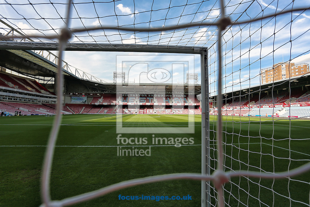 General view of the Boleyn Ground, London, Home of West Ham United Football Club before the Barclays Premier League match against Queens Park Rangers.<br /> Picture by Richard Calver/Focus Images Ltd +447792 981244<br /> 05/10/2014