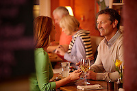 Couple dining<br /> Felin Fach Griffin<br /> Near Brecon<br /> Powys<br /> South<br /> People<br /> Lifestyle<br /> Pubs and Restaurants
