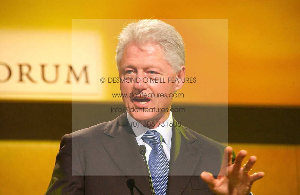 Former President of the USA BILL CLINTON at the Fortune Forum Dinner held at Old Billingsgate, 1 Old Billingsgate Walk, 16 Lower Thames Street, London EC3R 6DX<br />