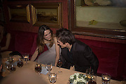 RUPERT FRIEND AND KEIRA KNIGHTLEY, Pre Bafta dinner hosted by Charles Finch and Chanel. Mark's Club. Charles St. London. 9 February 2008.  *** Local Caption *** -DO NOT ARCHIVE-© Copyright Photograph by Dafydd Jones. 248 Clapham Rd. London SW9 0PZ. Tel 0207 820 0771. www.dafjones.com.