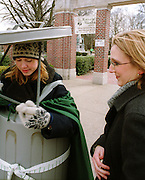 15145Recycle mania- student dressed in a trash can costume: Photos: John McGann