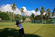 Grass tennis court, Taveuni Estates, Taveuni, Fiji
