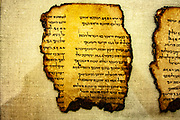 Dead Sea Scrolls in the Shrine of the Book in the Israel Museum Jerusalem, Israel