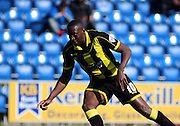 Burton No 10 Lucas Akins celebrates scoring the third goal in the Sky Bet League 1 match between Colchester United and Burton Albion at the Weston Homes Community Stadium, Colchester, England on 23 April 2016. Photo by Nigel Cole.