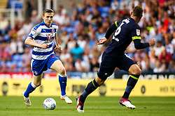 Jon Dadi Bodvarsson of Reading takes on Richard Keogh of Derby County - Mandatory by-line: Robbie Stephenson/JMP - 03/08/2018 - FOOTBALL - Madejski Stadium - Reading, England - Reading v Derby County - Sky Bet Championship